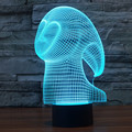 Ghost 3D USB Led Night Light 7 colors Changing Christmas Mood Lamp Touch Button Kids Living Room Bedroom Table Desk Lighting