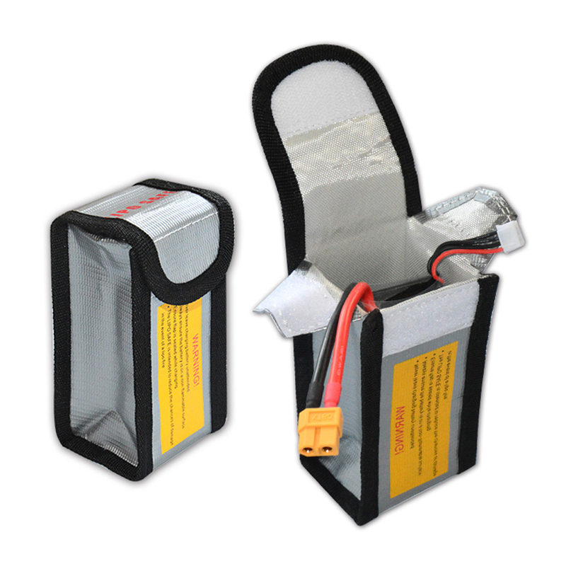 Hot Sale in 2018 LiPo Li-Po Battery Fireproof Safety Guard Safe Bag 64*50*125MM For Protecting Batteries Safety Charging
