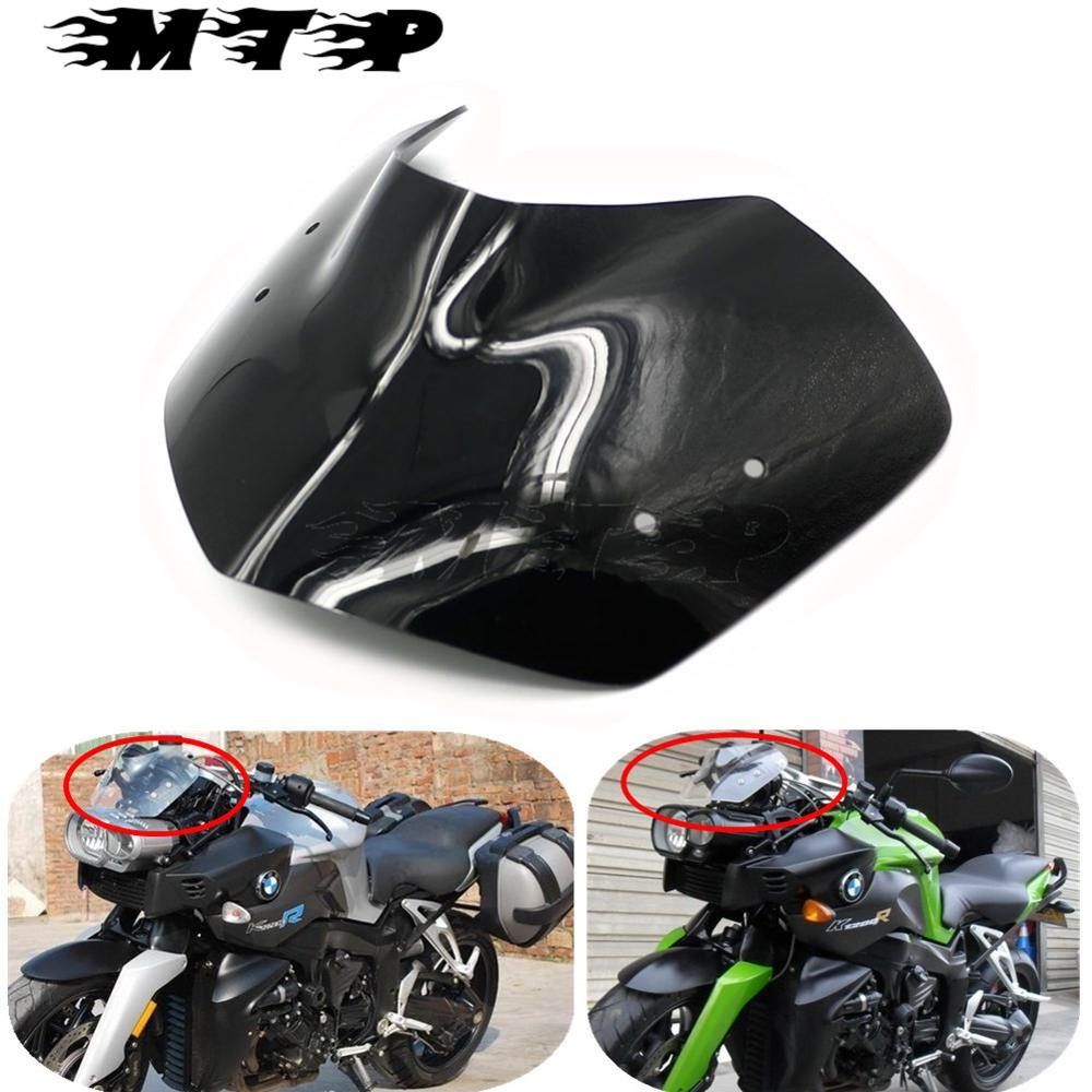 Motorcycle Windshield WindScreen Wind Protection Screen For BMW K1200R 05-08 BMW K1300R 09-15 Windproof Front Glass Guard image