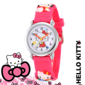 Children Cartoon Hello Kitty Watches 2016 Cool 3D Rubber Strap Kids Watch Quartz Watch Clock Hour Christmas Gift Relojes Relogio