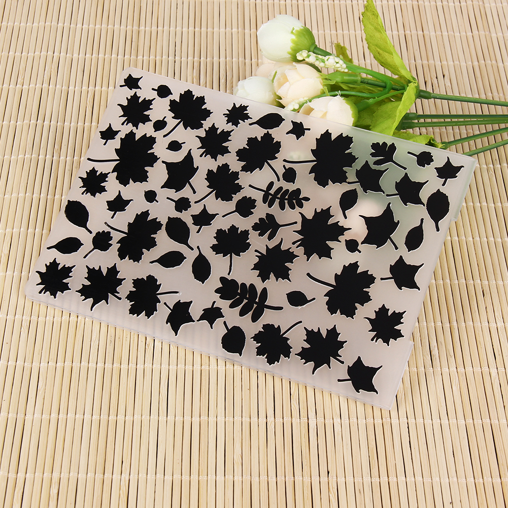 Maple Leaves Pattern Plastic Embossing Folder For Scrapbooking DIY Photo/Stamp Album Paper Craft Tool Postcard Decorative Tools plastic embossing foldet flower diy scrapbooking photo album card paper craft decoration template