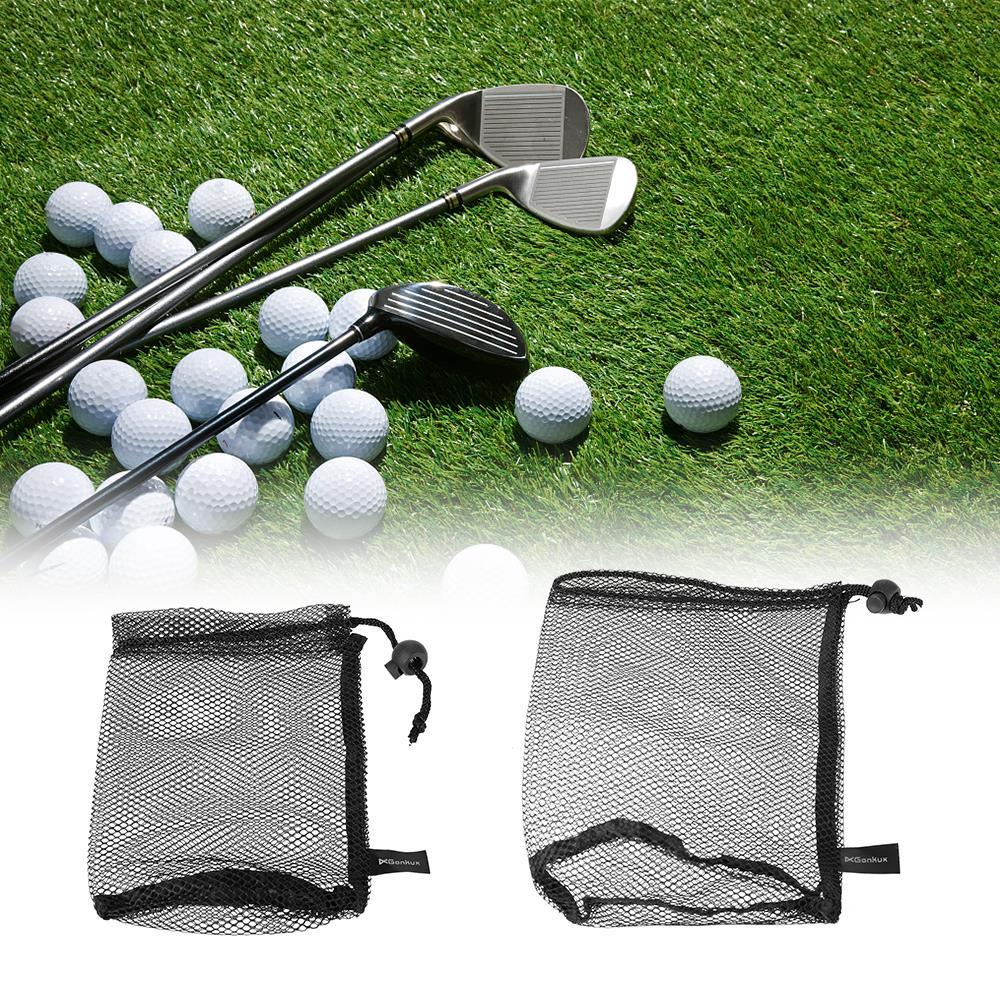 Image 5 - Golf Nylon Drawstring Mesh Net Bag Golf Balls Holder Outdoor Sports Mesh Nets Bag Table Tennis Balls Carrying Holder Storage Bag-in Golf Balls from Sports & Entertainment