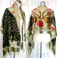 Burn Out Duster Opera Coat Shawl Scarf Wrap Ponchos 6pcs/lot Beaded Silk Velvet