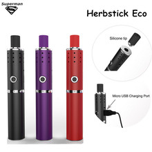New Arrival Herbstick Eco dry herb Vaporizer 2200mah Temperature Control Airflow Hole Mini Vape Pen Herbal e cigarette Kit