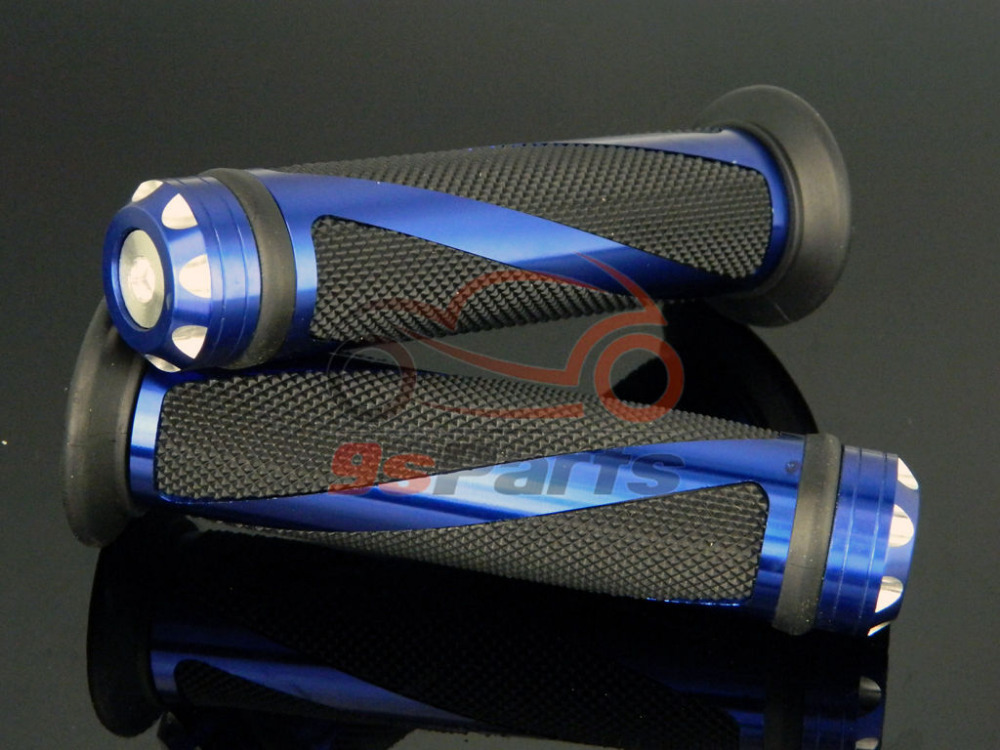 """7/"""" руль мотоцикла с ЧПУ прорезиненные ручки для Honda Yamaha Suzuki Kawasaki KTM ATV Ducati Dirt Bike Универсальный"""