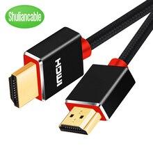 Shuliancable HDMI кабель 1 м 15 м видео кабели 2,0 3D hdmi кабель для сплиттер переключатель HDTV LCD ноутбук PS3 проектор компьютерный кабель
