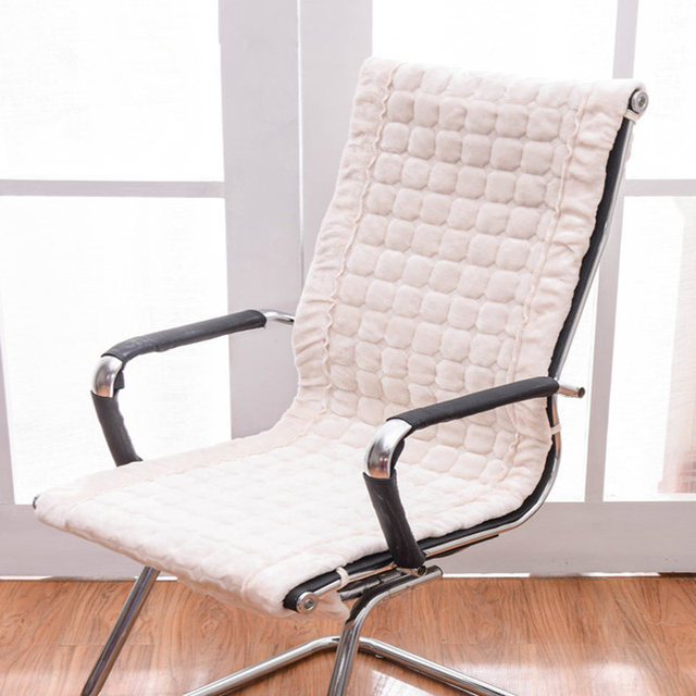 Us 12 0 40 Off Rectangle Winter Chair Cushion Rocking Chair Seat Pad Office Chair Cushions Integrated Seat Mat Europe Style Warm Seat Cushion In
