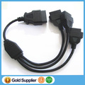5pcs/Lot!OBD 2 extension cable , J1962M to 3pcs J1962F, Splitter OBD2 Cable 1 to 3, OBD2 splitter Y cable 50cm