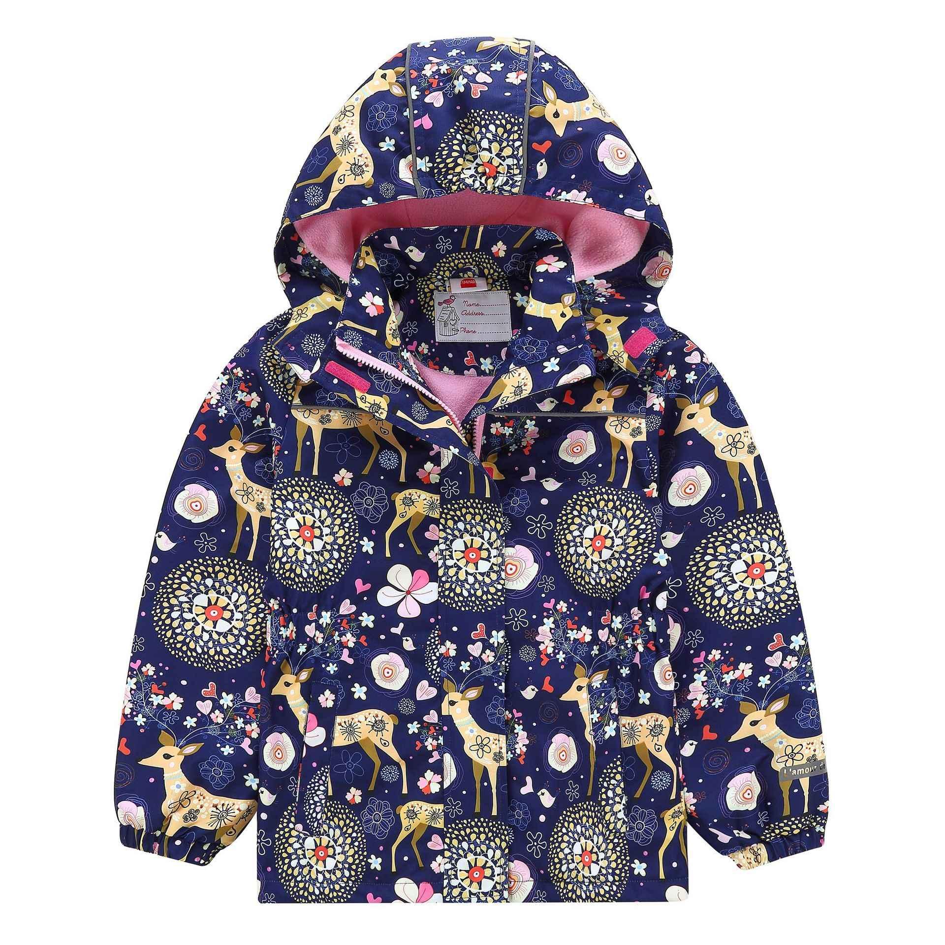 HSSCZL בנות מעילי 2019 אביב חדש סתיו ילדה ילדי תינוק תינוקות windproof עמיד למים מעיל ילדים של ברדס מעיל הלבשה עליונה