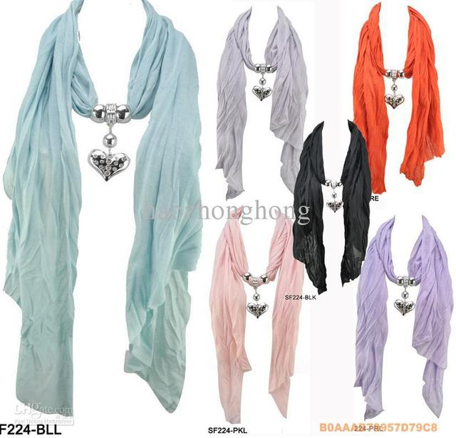 Free shipping jewelry scarf pendant necklace womens soft charm free shipping jewelry scarf pendant necklace womens soft charm scarves jewellery 8 style mix color aloadofball Images