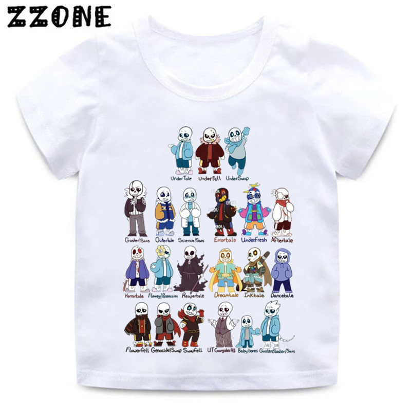 Detail Feedback Questions about Boys and Girls Skull Brother Undertale Sans  Cartoon Print T shirt Baby Funny White T shirt Kids Summer Casual Clothes  ... b8b5226182be