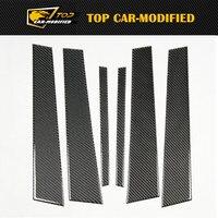 Free shipping 6PCS/SET Exterior Trims Carbon Fiber A4 Auto B Pillars for BMW 1 SERIES E82/E87/E46/E90/E92