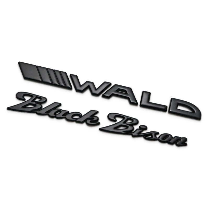 Black Bison WALD Separate Letters Chrome Metal Zinc Car Styling Refitting Emblem Trunk Badge Logo 3D Sticker for BMW Benz Bison