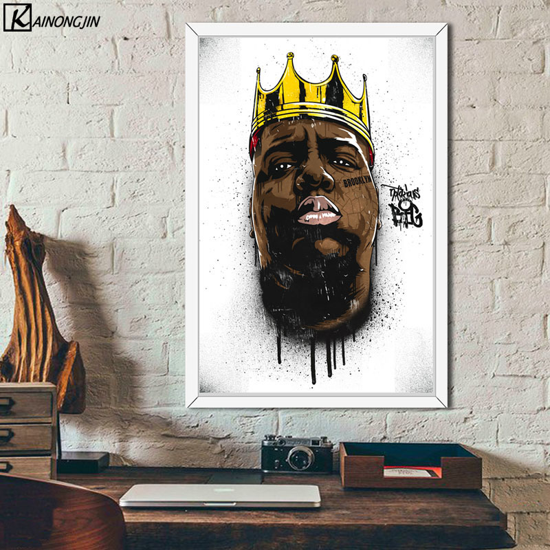 Us 2 88 47 Off Notorious B I G Biggie Smalls Poster Tupac 2pac Shakur Posters And Prints Canvas Painting Wall Art Picture For Room Home Decor In