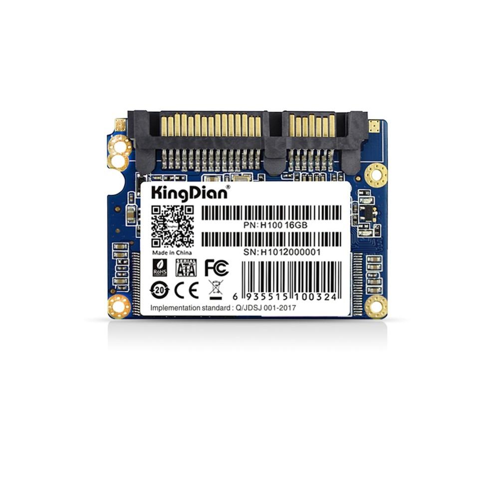 (H100-16GB) KingDian Internal Solid State Drive Hard Disk Ultra Thin Upgrade Half Slim 1.8 HFSL Interface 16GB SSD