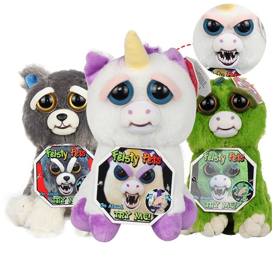 Новый Злющий домашних животных Изменение Лица Забавные игрушки выражение чучело Мягкие плюшевые куклы для детей милый хлопок Рождественск... ...