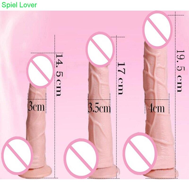 Cheap Dildos Realistic Big Flesh Dildo Sex Product Flexible Huge Penis Suction Cup Toys for Women Shop