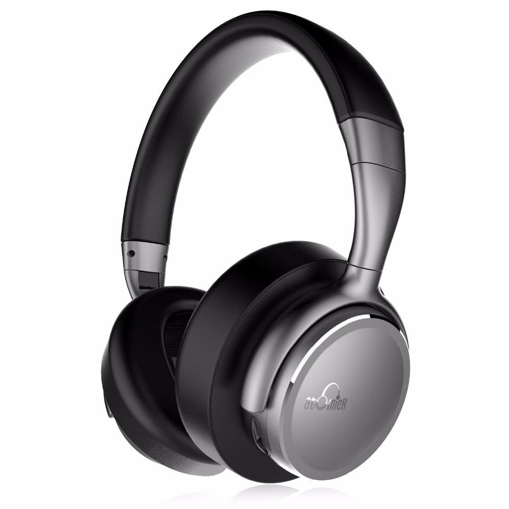 iDeaUSA V203 Wireless Headphones with Mic aptX HiFi Sound Lightweight CVC Noise Cancelling Headphone Bluetooth 4.1 + EDR meizu ep51 ep52 wireless sports bluetooth4 in ear headphone support aptx noise cancelling mic aluminium alloy shell tpe line