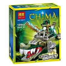 Reedcall 1 box 120pcs Chimaed crocodile action figure Building Block toys Compatible Legoes Chimaed LEPINE with Original Box(China)