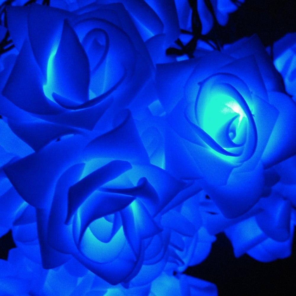 YIYANG Solar Rose LED Solar Fariy String Light Outdoor Party ...