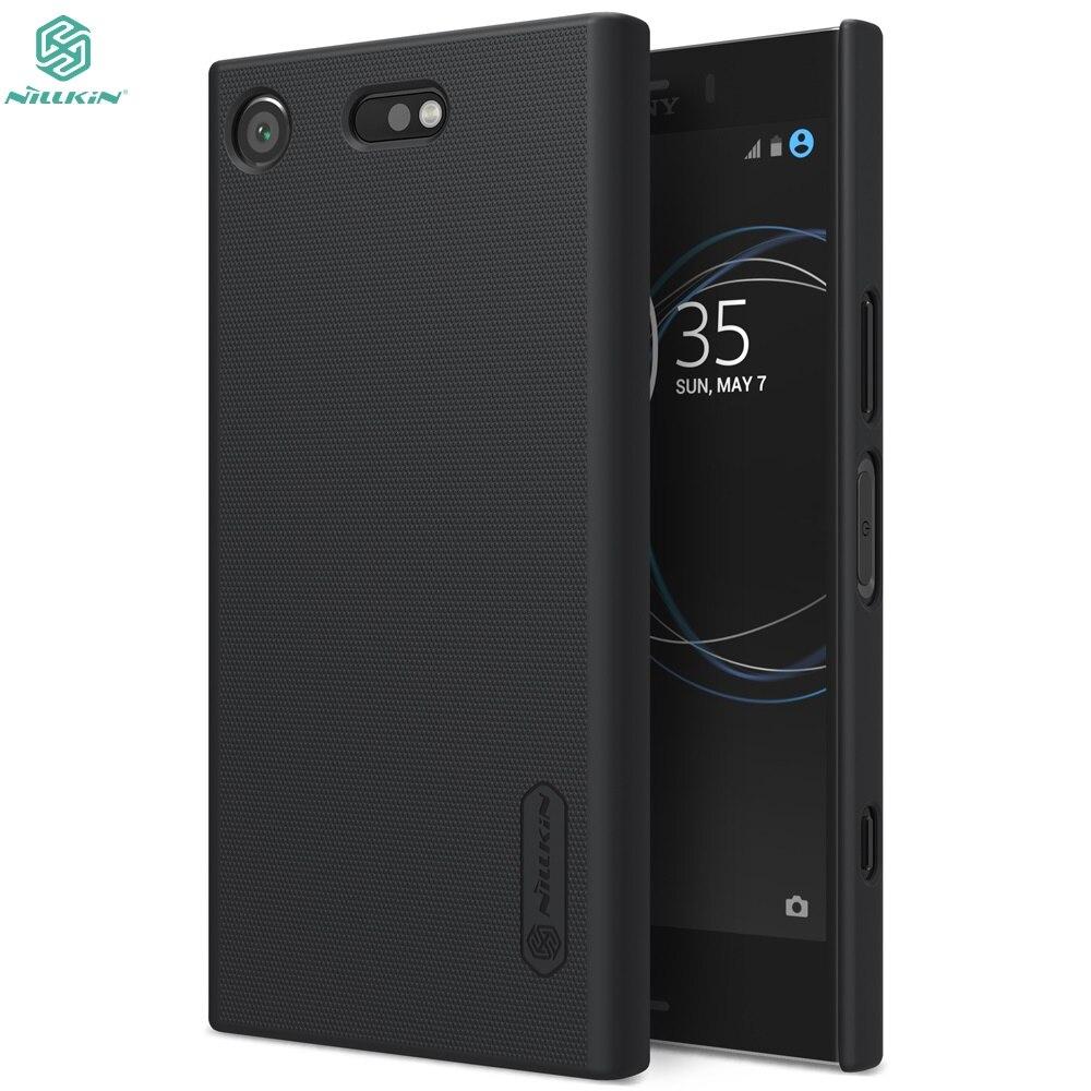 Bumper Case For Sony Xperia XZ1 Compacto (XZ1 mini) original NILLKIN Super Fosco Escudo Capa Case com pacote de varejo