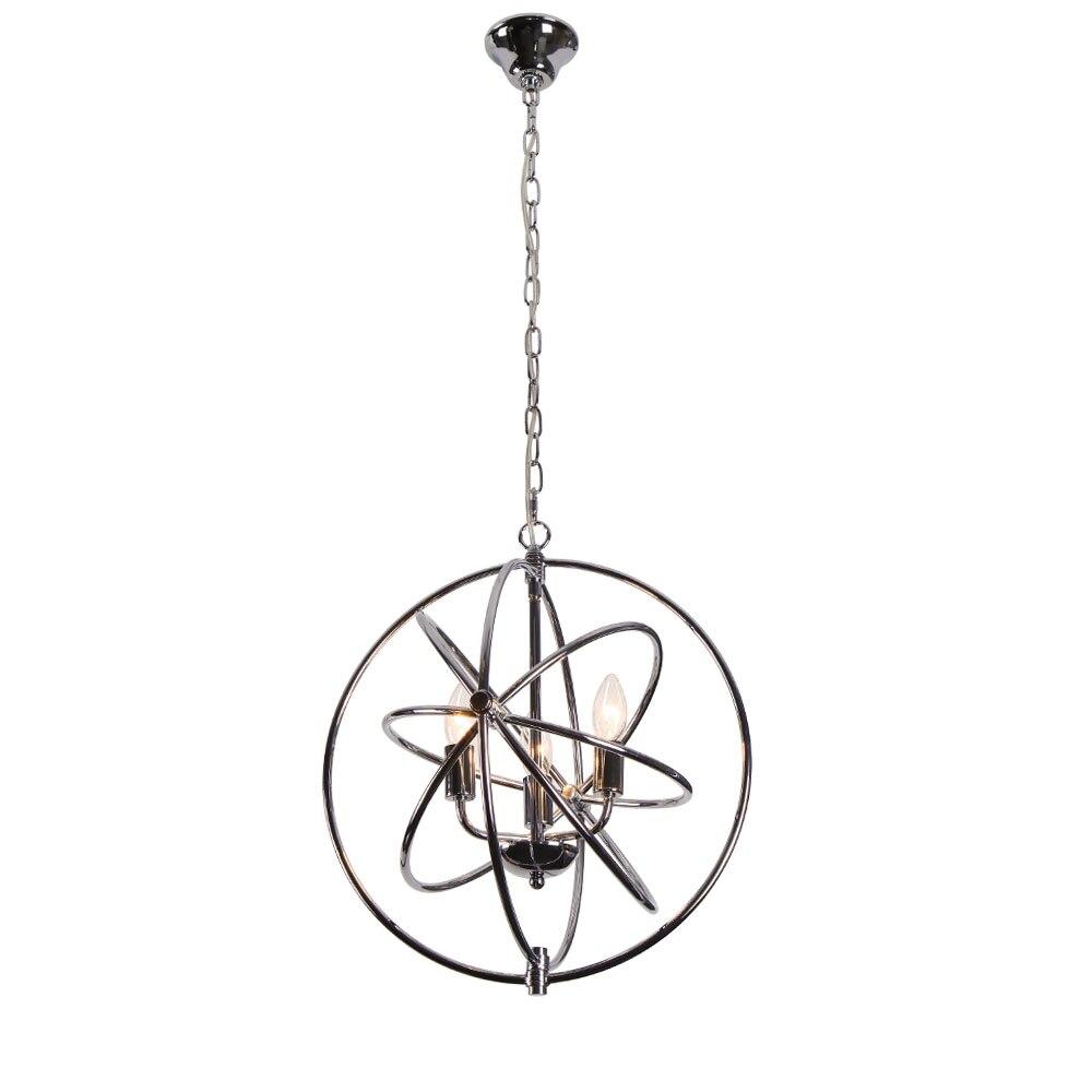 CANDYINHOM Modern 3-light Chrome Finish Metal Orb Globe Spherical Cage Chandelier Lighting battlefield 3 или modern warfare 3 что