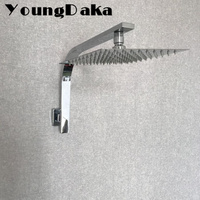 YoungDaka 8 10 Inch Stainless Steel Rainfall Shower Heads Set With Gooseneck Shower Arm Water Saving