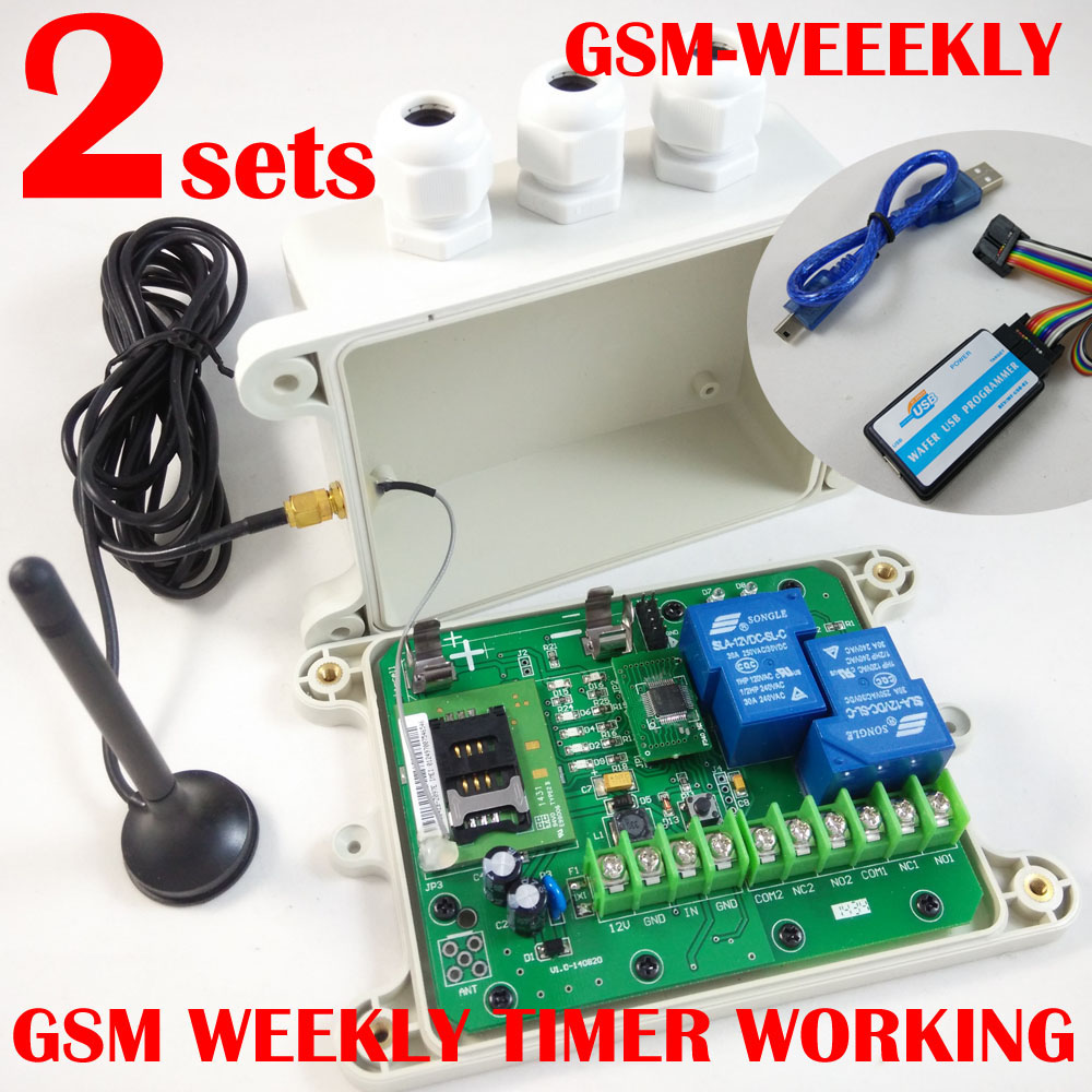 GSM remote control box ( Model: GSM-WEEKLY ) (WEEKY timer function ) alarm input battery onboard
