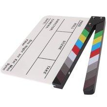 Réalisateur vidéo scène claquette panneau acrylique effaçable à sec réalisateur TV Film Film Action ardoise Clap à la main coupe accessoire