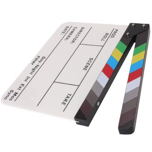 Yönetmen Video sahne klaket klaket kurulu akrilik kuru silme direktörü TV Film Film eylem kayrak alkış el yapımı Cut Prop
