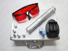 AAA 500000mW/500W 450nm blue laser pointers Flashlight burning match/paper/dry wood/cigarettes+5 caps+glasses+charger+gift box