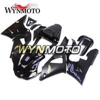 Мотоцикл Обтекатели черный с золотом таблички новая для Yamaha YZF R1 2000 2001 ABS Пластик инъекций Полный комплект обтекатель капоты