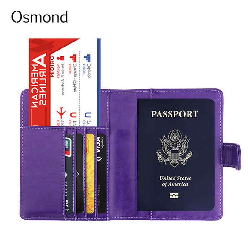 b526d9c760b Osmond Women Travel Document ID Credit Card Holders RFID Passport Cover  Cardholder Cards Slots Case Anti