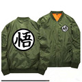 Hot DRAGON BALL Fashion Coats Goku Word Cosplay Baseball Windbreaker Anime Thicken Casual Flight bomber Jackets 011206