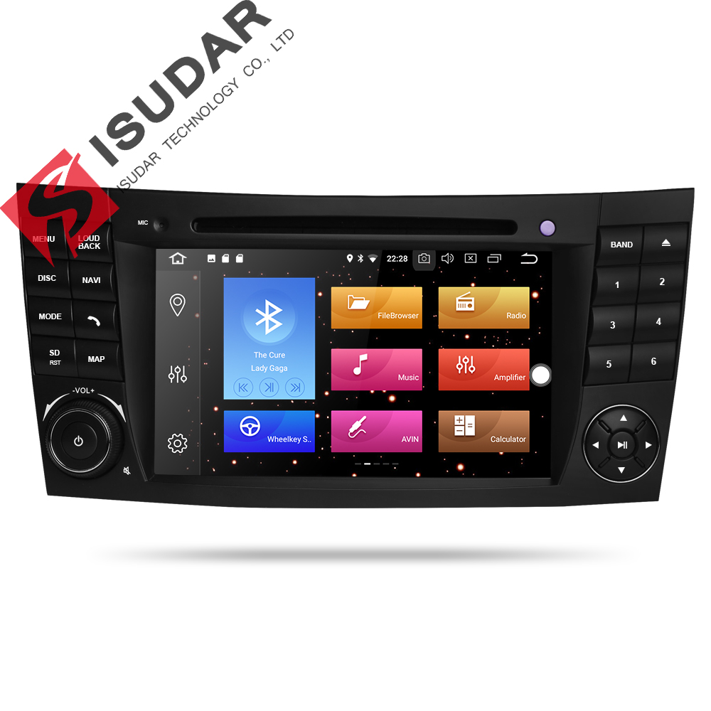 все цены на Isudar Car Multimedia Player Android 8.0 GPS 2 Din 7 Inch For E-Class/E200/E220/E300/W211/E320/Mercedes/Benz/CL Wifi Radio DVD онлайн