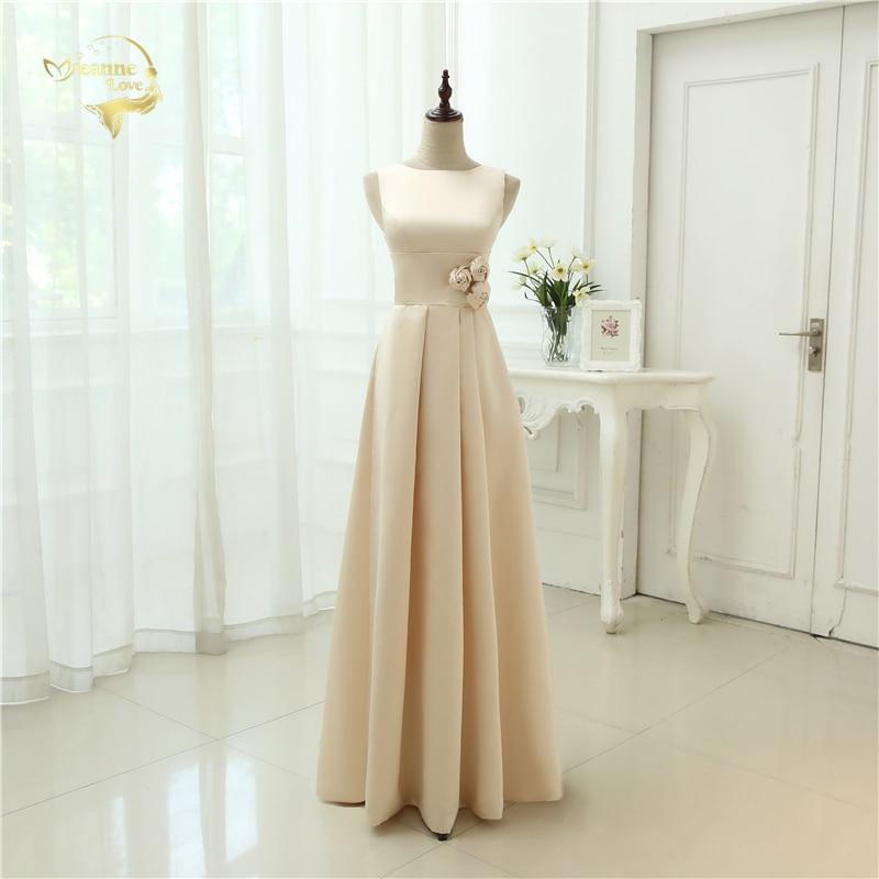 Vestido De Festa Longo 2019 Wholesale Bridesmaid Dress High Classic Simple Style Floor Length Open Back