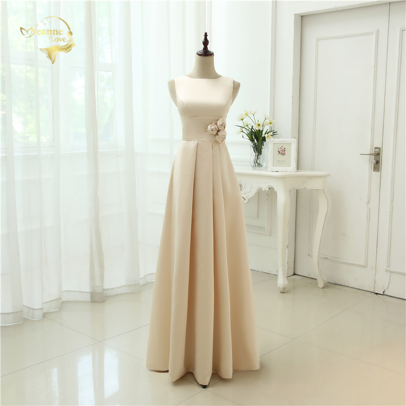 Vestido De Festa Longo 2019 Wholesale   Bridesmaid     Dress   High Classic Simple Style Floor Length Open Back   Bridesmaid     Dresses   BR-31