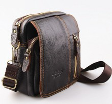 The new men's high-quality leather shoulder Messenger bag leather multi-functional leisure mobile phone walletH5102