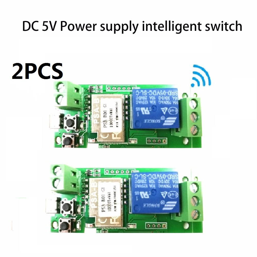 2PCS dc 5V sonoff wifi switch module dc 5V Inching Self Locking wireless Relay Switch Smart home Automation for Computer access клавиатура проводная cbr kb 300m silver