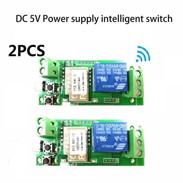 2pcs Dc 5v Sonoff Wifi Switch Module Dc 5v Inching Self