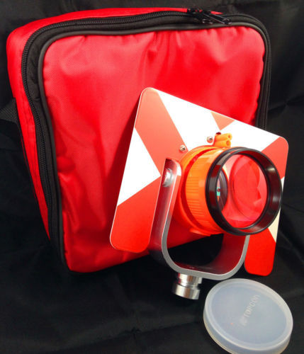 NEW RED Prism Set w/ Bag for topcon/sokkia/nikon/Pentax total stations