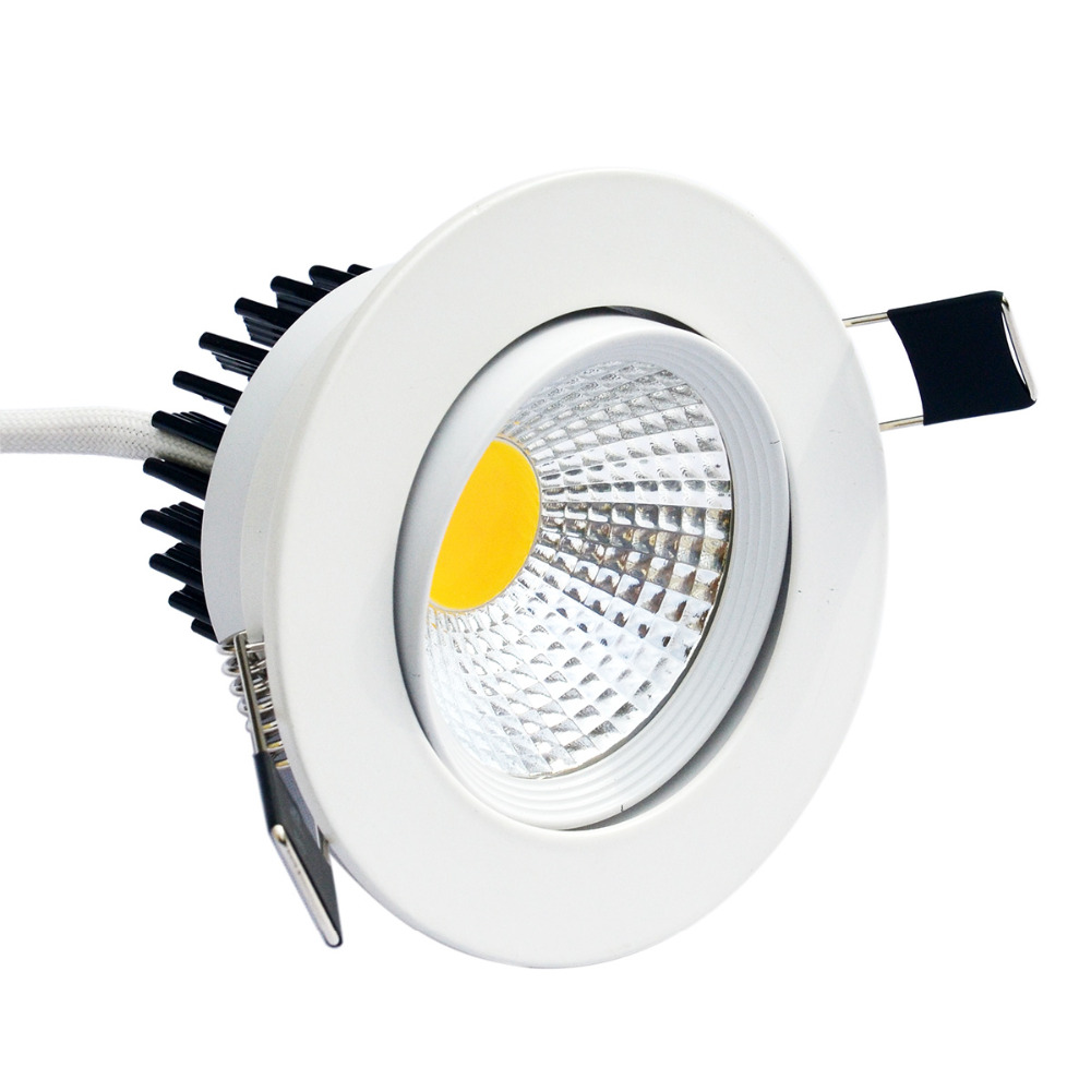 JIAWEN 6pcs lot e COB LED recessed Ceiling lamp White Warm White 6500K 3200K AC 85 265V in Downlights from Lights Lighting