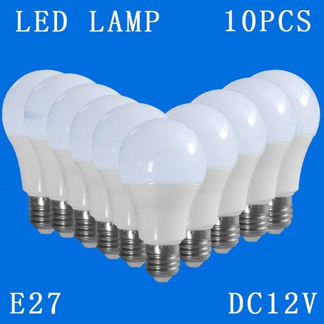 10 ピース/ロット DC12V E27 Led ランプクール白ダウンライトホームグローブインテリア照明 3 ワット 5 ワット 7 ワット 9 ワット 12 ワット 15 ワット交換電球キャンプ