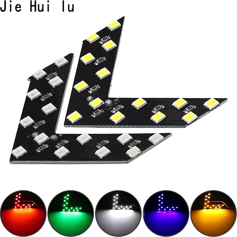 1 PCS Car Styling 14 SMD LED Arrow Panel Car Rear View Mirror Indicator Turn Signal Light Car led Parking