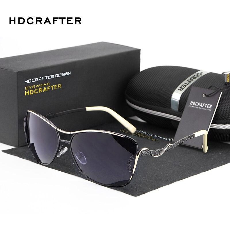 HDCRAFTER Polarized Sunglasses Women Brand Designer Sun Glasses for Women Summer Shade UV400 Driving oculos de sol feminino