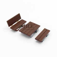 цена на Free Shipping Moc DIY Garden Table Chair Bench Courtyard Enlighten Building Block Bricks Compatible with Assembles Particles