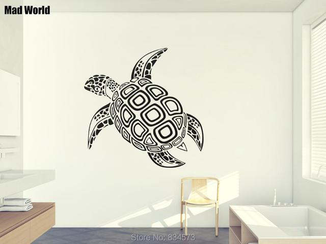 mad world tortoise reptiles animal silhouette wall art sticker wall