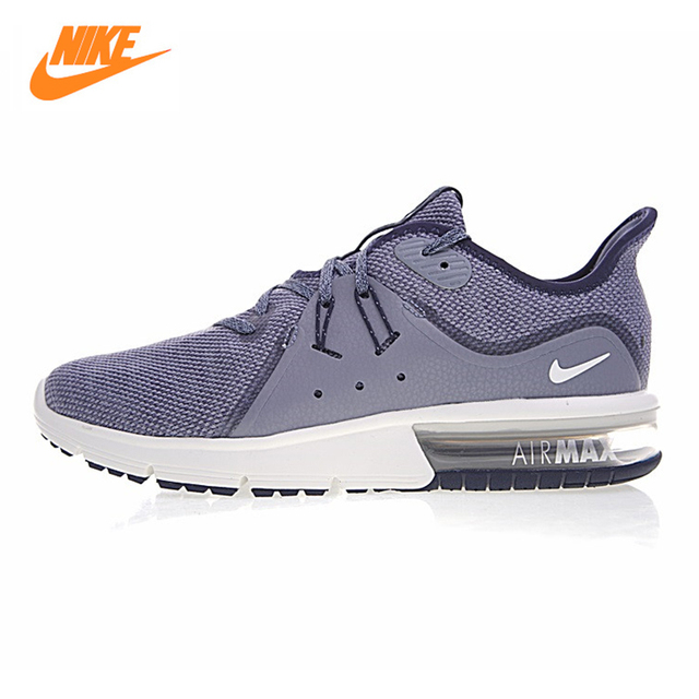NIKE AIR MAX SEQUENT Men's Running Shoes ,Outdoor Sneakers Shoes, Grey Black,  Shock