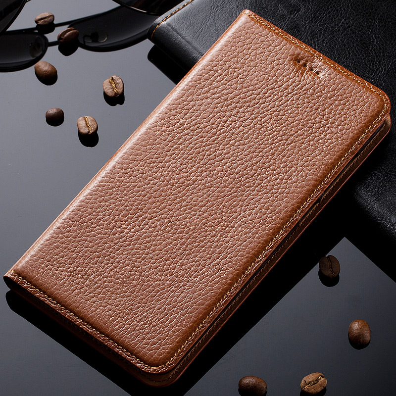 Case For One Plus Two Oneplus 2 Genuine Leather Magnetic Stand Flip Case Cover Phone Bag