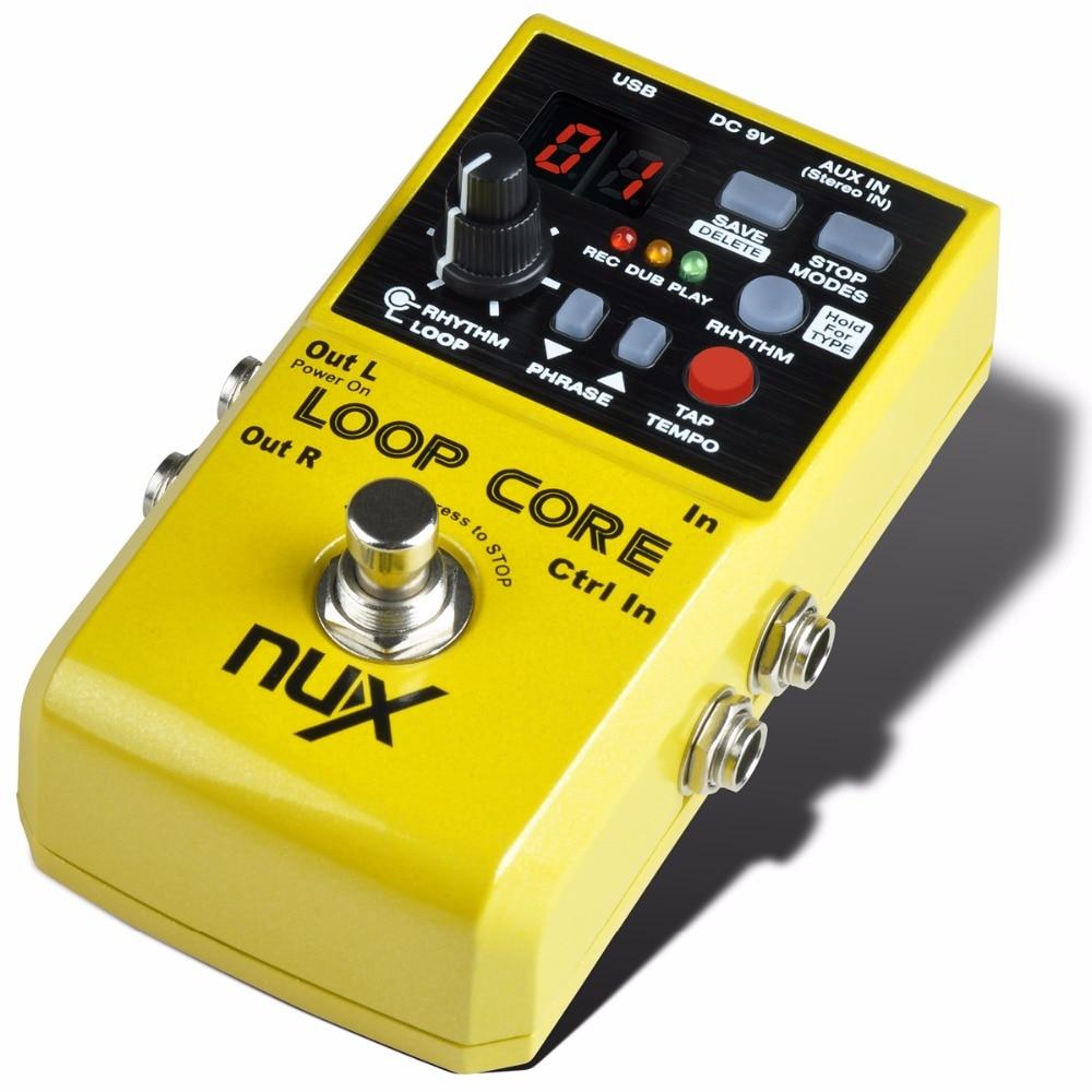 nux loop core guitar effect pedal guitar looper pedal 6 hours recording time 99 user memories. Black Bedroom Furniture Sets. Home Design Ideas